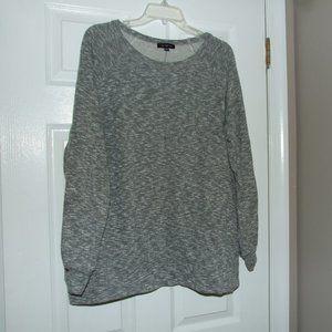 Lane Bryant Grey Heather Sweatshirt Top Plus 22/24
